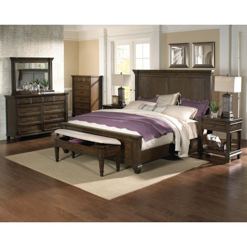 AAmerica Gallatin King Bedroom Group