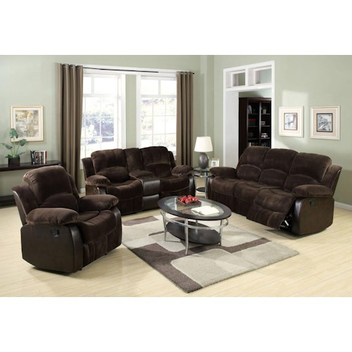 Acme Furniture Masaccio Reclining Living Room Group