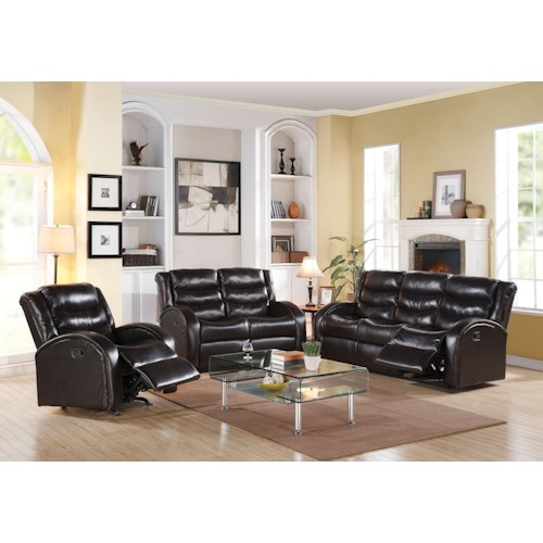 Acme Furniture Noah Reclining Living Room Group