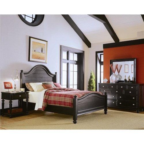 American Drew Camden - Dark Queen Bedroom Group
