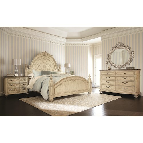 American Drew Jessica McClintock Home - The Boutique Collection Queen Bedroom Group