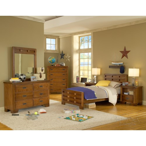 American Woodcrafters Heartland  Twin Bedroom Group