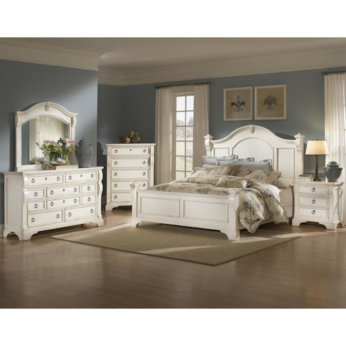 American Woodcrafters Heirloom King Bedroom Group