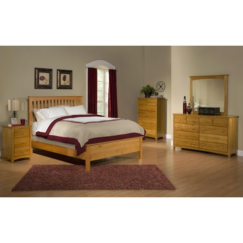 Archbold Furniture Alder Shaker Queen Bedroom Group 4
