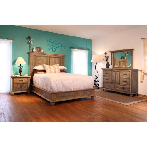 International Furniture Direct Praga  King Bedroom Group
