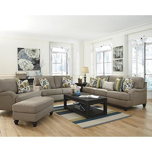 Ashley Furniture Hariston - Shitake Stationary Living Room Group