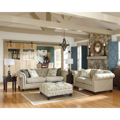 Ashley Furniture Hindell Park Stationary Living Room Group