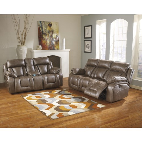 Ashley Furniture Loral - Sable Reclining Living Room Group