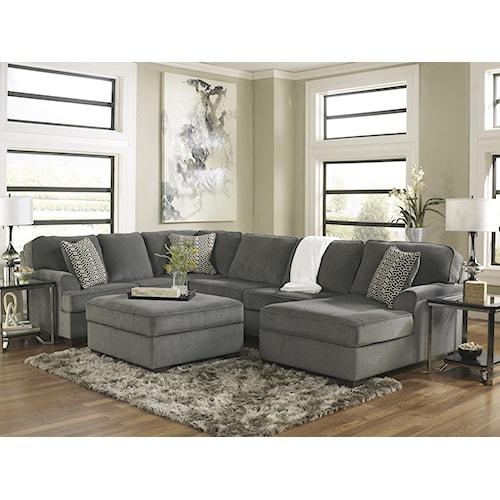 Ashley Furniture Loric - Smoke Stationary Living Room Group