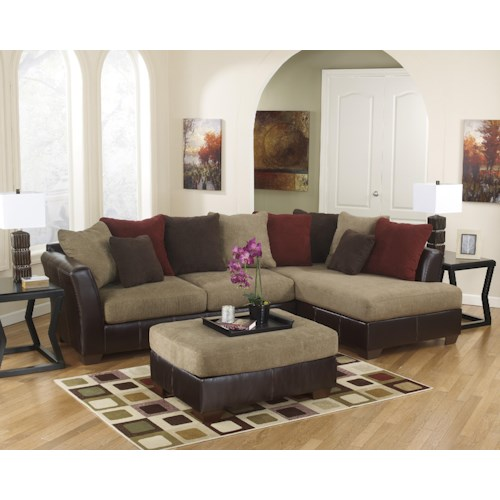 Ashley Furniture Sanya - Mocha Stationary Living Room Group