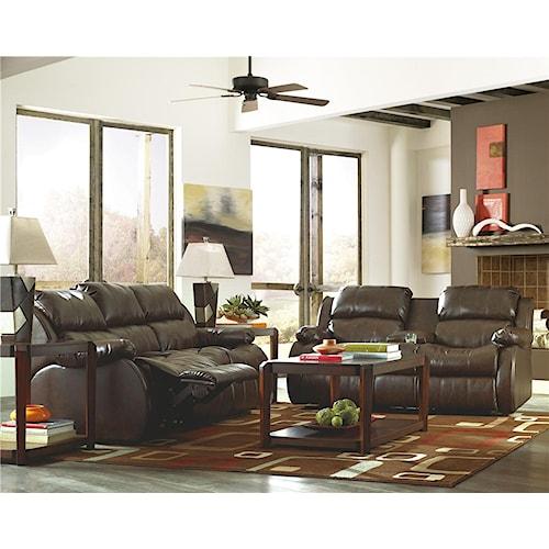 Millennium Mollifield DuraBlend® - Café Reclining Living Room Group