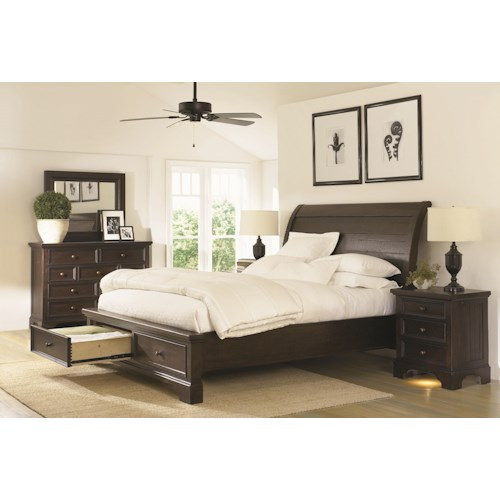 Morris Home Furnishings Burlington King Bedroom Group