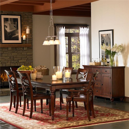Morris Home Furnishings Clinton Formal Dining Room Group