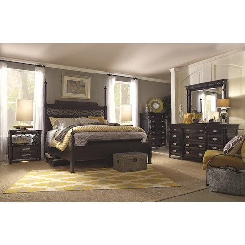 Morris Home Furnishings Youngstown Queen Bedroom Group