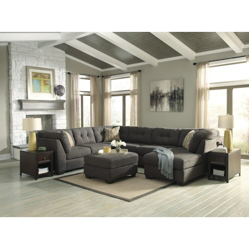 Benchcraft Delta City - Steel Stationary Living Room Group