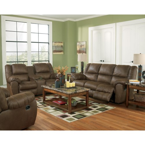 Ashley Quarterback - Canyon Reclining Living Room Group