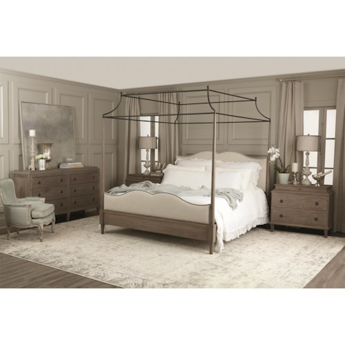 Bernhardt Auberge King Bedroom Group 4