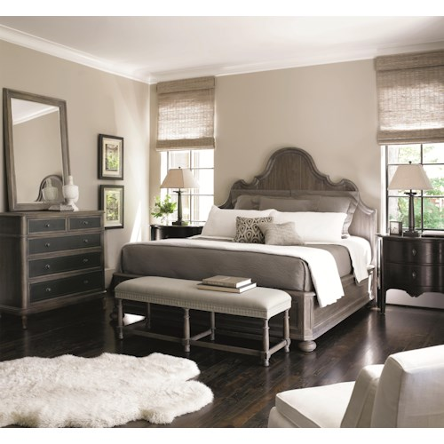 Bernhardt Belgian Oak King Bedroom Group