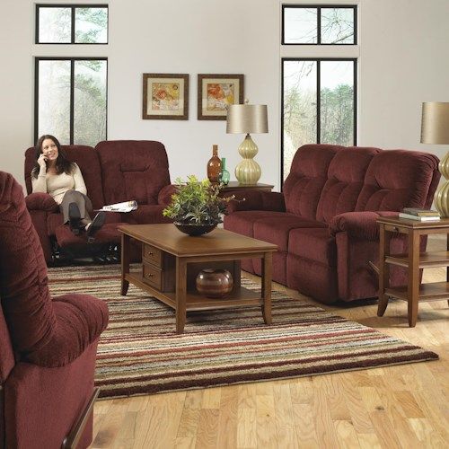 Morris Home Furnishings Ares Reclining Living Room Group