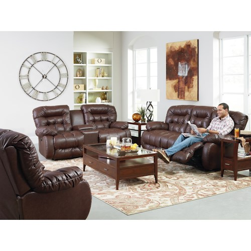 Best Home Furnishings Plusher Reclining Living Room Group