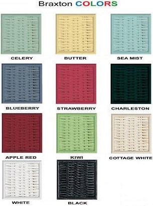 Color Wicker Finish Options Available by Custom Order