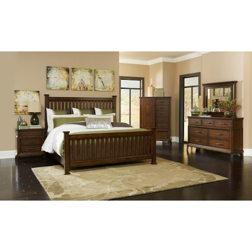 Broyhill Furniture Estes Park California King Bedroom Group