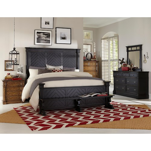 Broyhill Furniture New Vintage California King Bedroom Group