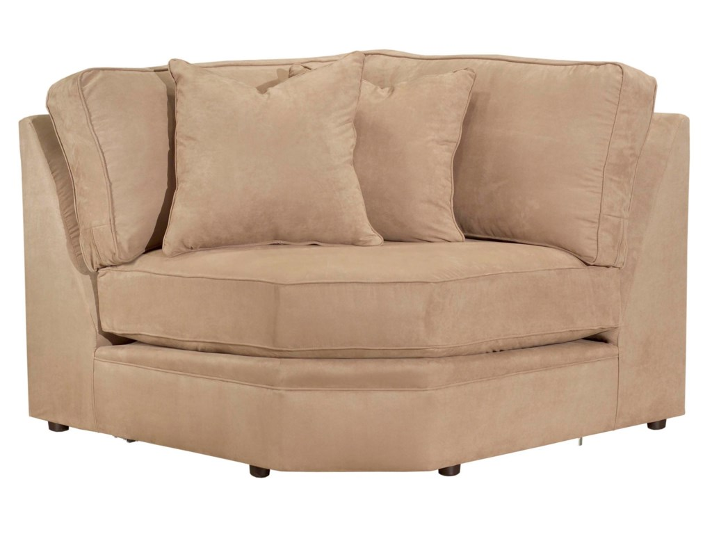 Configure Your Custom Sofa with Your Choice of Sectional Components, Including the Corner Wedge