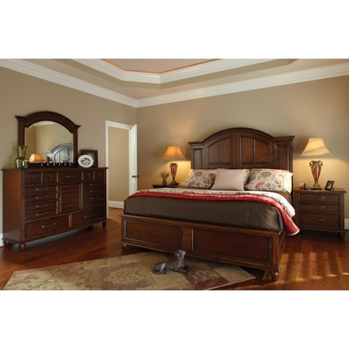 Morris Home Furnishings Livingston King Bedroom Group