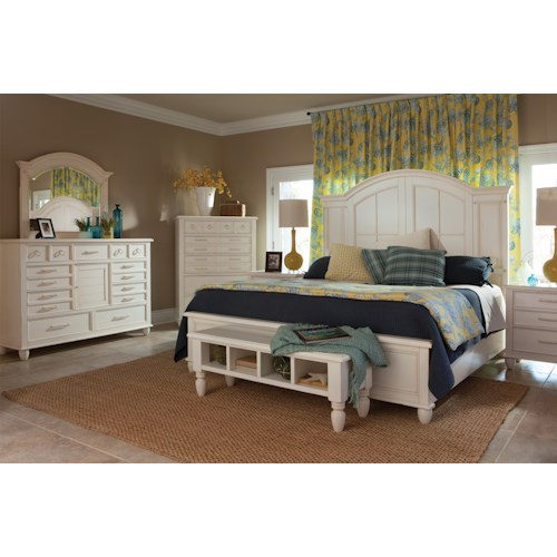 Easton Collection Sea Breeze King Bedroom Group