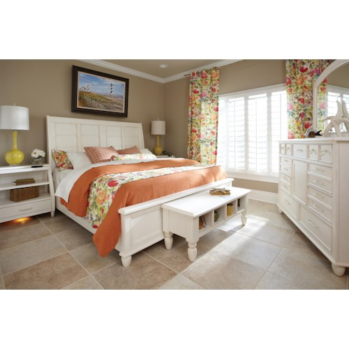 Easton Collection Sea Breeze Queen Bedroom Group