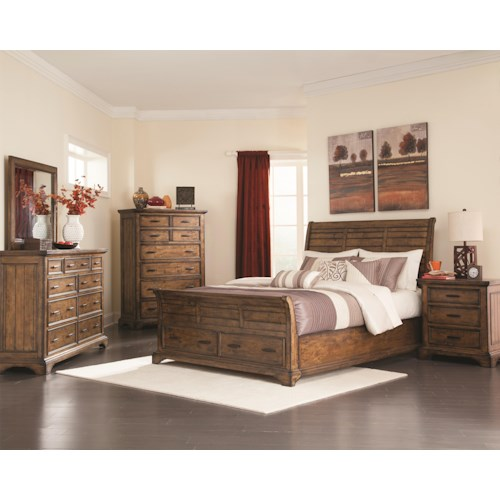 Coaster Elk Grove King Bedroom Group