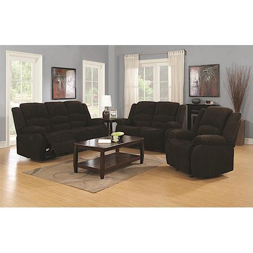 Coaster Gordon Reclining Living Room Group