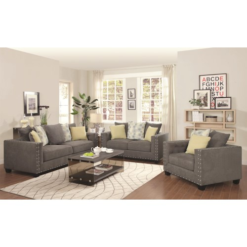 Coaster Kelvington Stationary Living Room Group