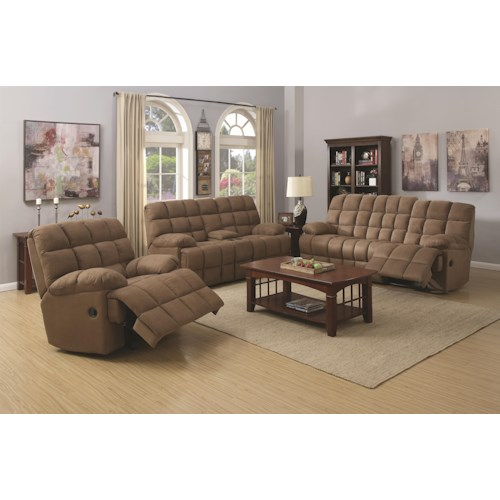 Coaster Pickett Reclining Living Room Group