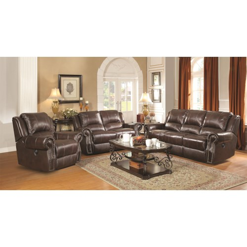 Coaster Sir Rawlinson Reclining Living Room Group