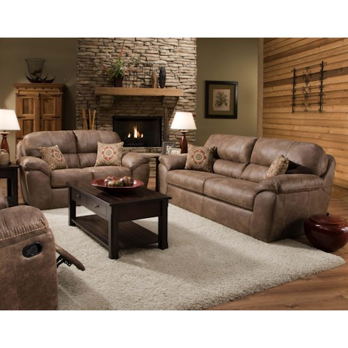 Corinthian Ulyses River Rock Stationary Living Room Group