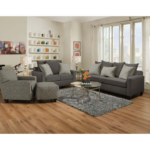 Corinthian 49C0 Stationary Living Room Group