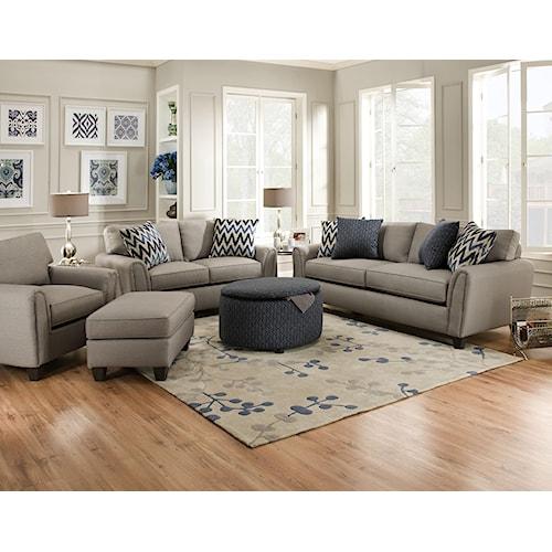 Corinthian 55A0 Stationary Living Room Group