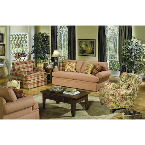 Cozy Life 4550 Stationary Living Room Group with Sleeper