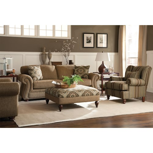 Craftmaster 732500 Stationary Living Room Group