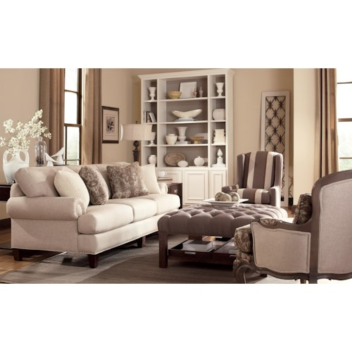 Craftmaster 740500 Stationary Living Room Group