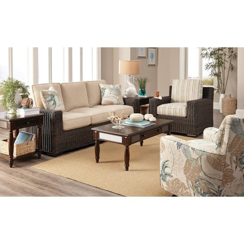 Craftmaster 750800 Stationary Living Room Group with Air Dream Sleeper