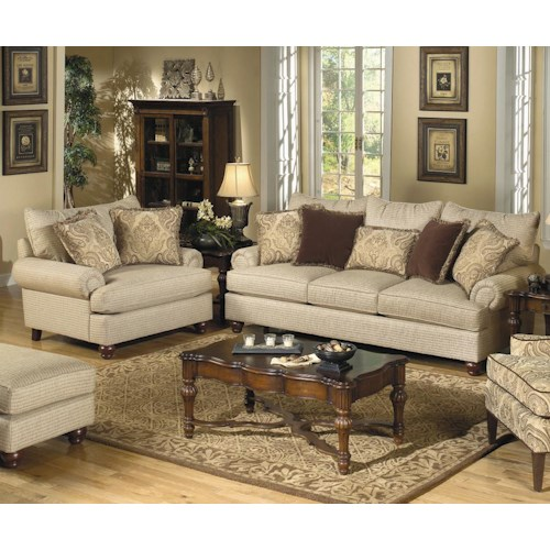Craftmaster Carla Stationary Living Room Group