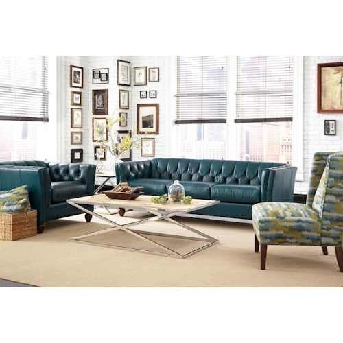 Craftmaster Chelsea Stationary Living Room Group with Accent Chair