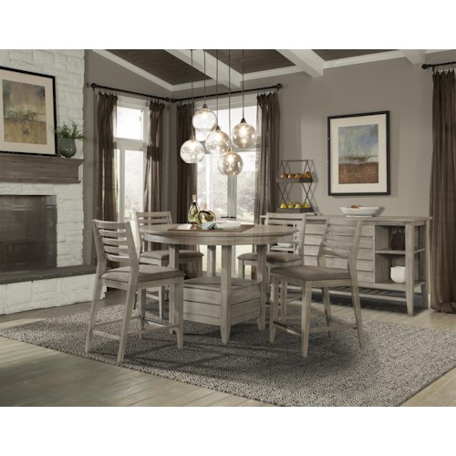 Cresent Fine Furniture Corliss Landing Casual Dining Room Group