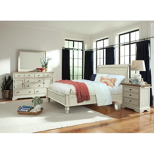 Cresent Fine Furniture Cottage Cal King Bedroom Group