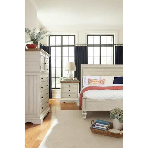 Cresent Fine Furniture Cottage King Bedroom Group