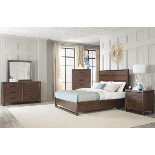 Cresent Fine Furniture Mercer Cal King Bedroom Group