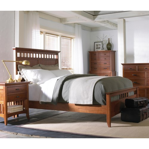 Cresent Fine Furniture Cresent Classics - Modern Shaker Queen Bedroom Group